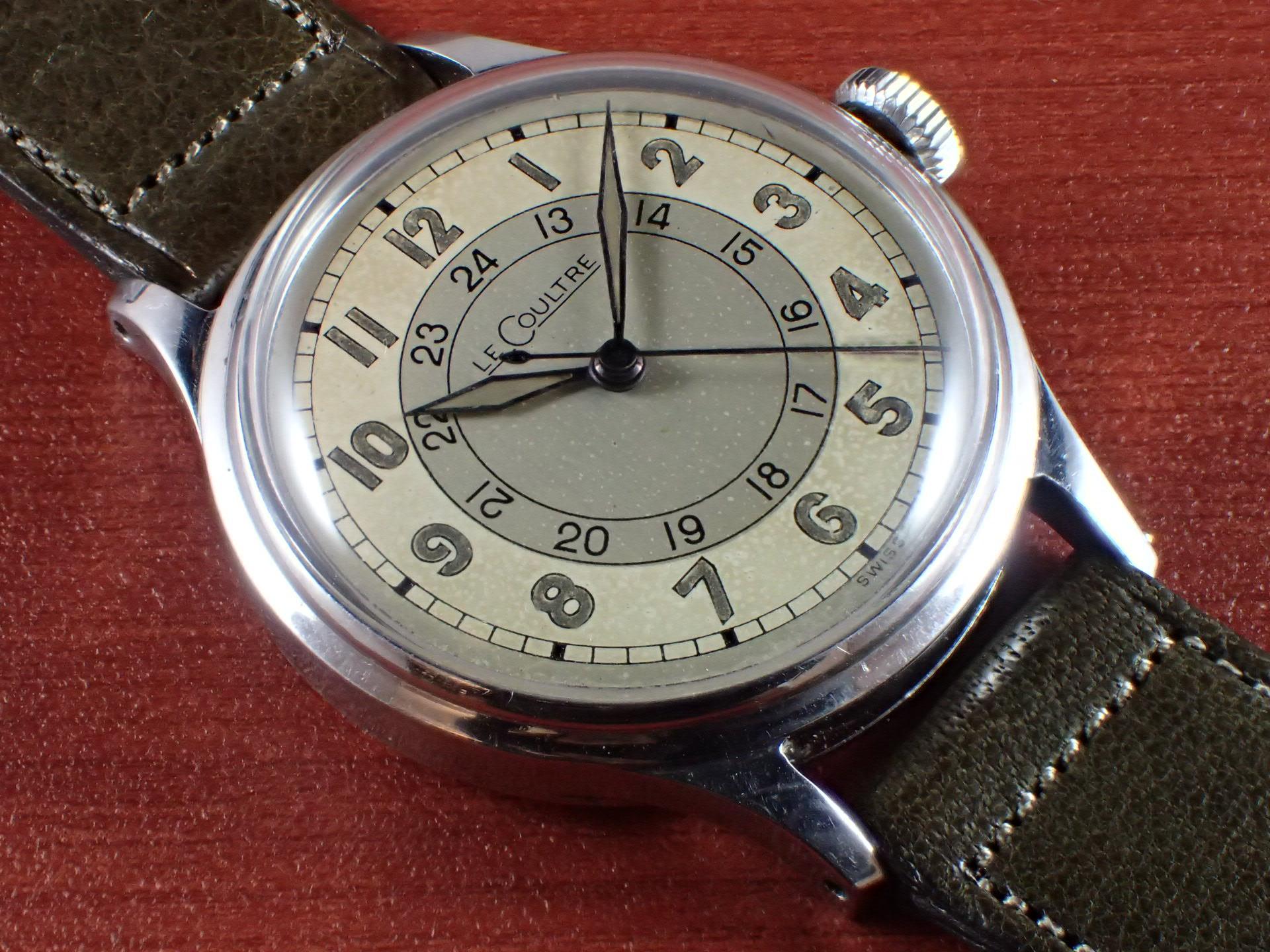 ルクルト ホワイト2トーンダイアル 24時間表記 スナップバック 1940年代のメイン写真