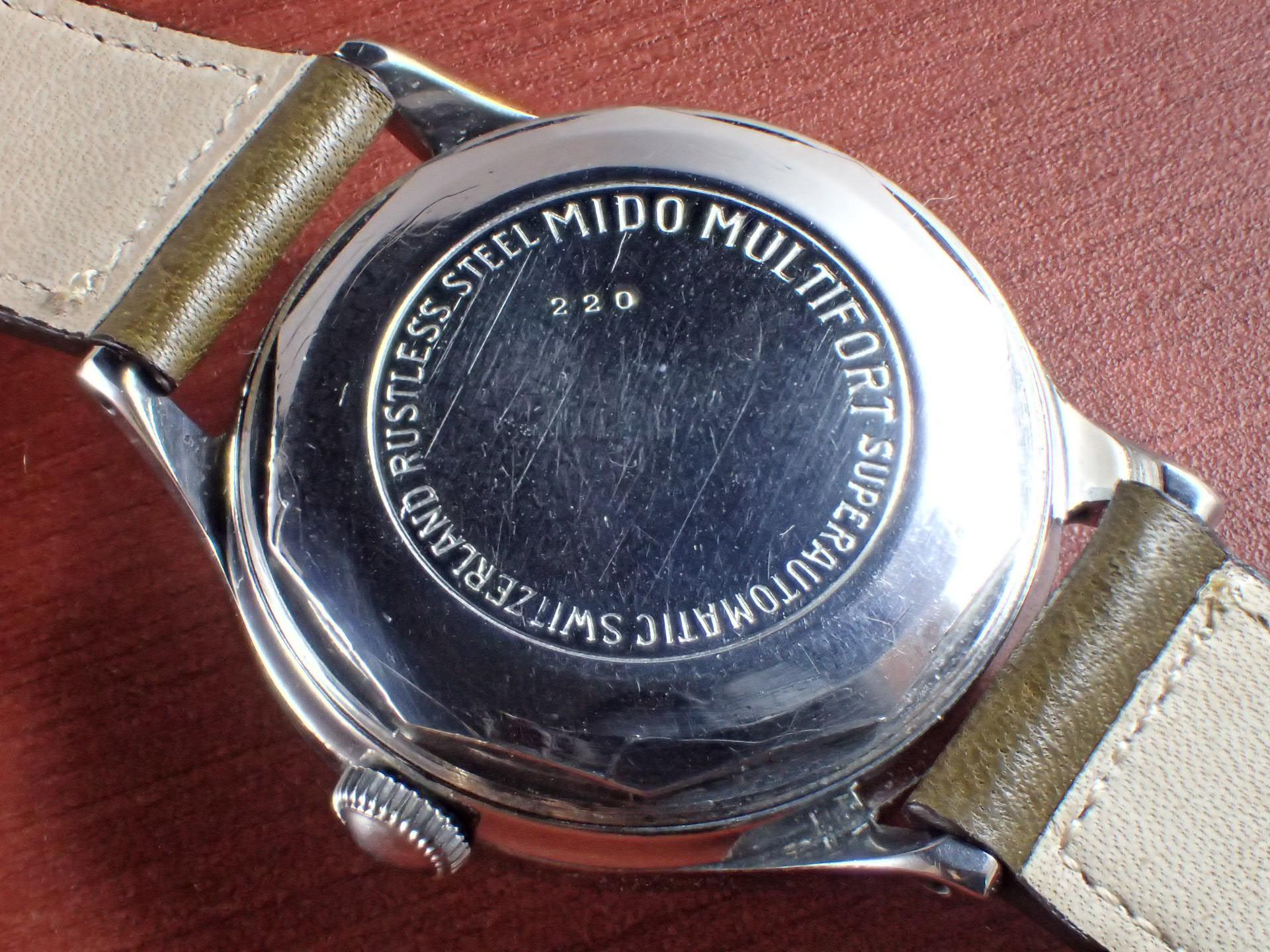 ミドー マルチフォート ラージケース 34mm 2トーンダイアル 1940年代の写真4枚目