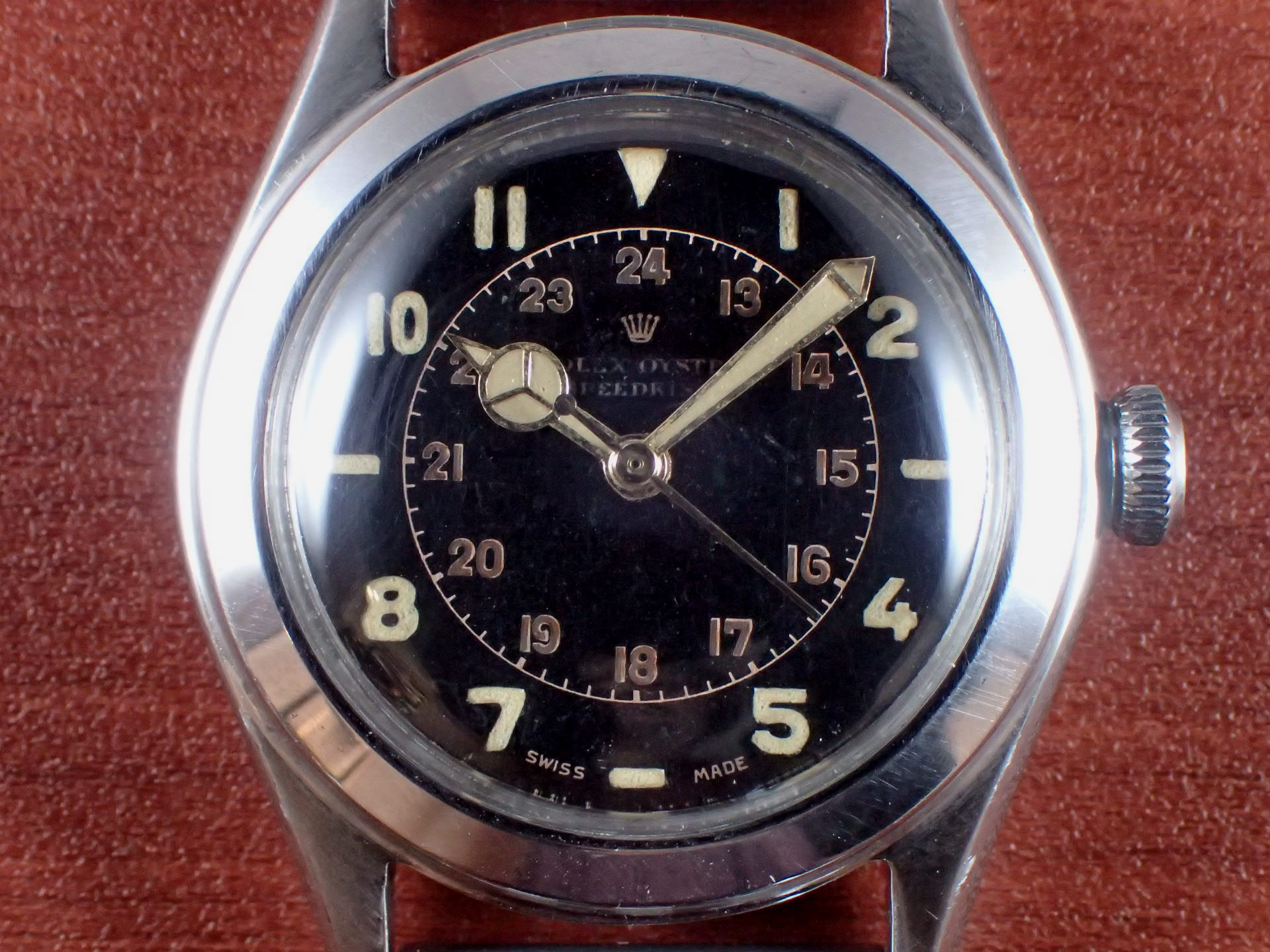 ロレックス オイスター スピードキング Ref.4220 ブラックダイアル 1940年代の写真2枚目