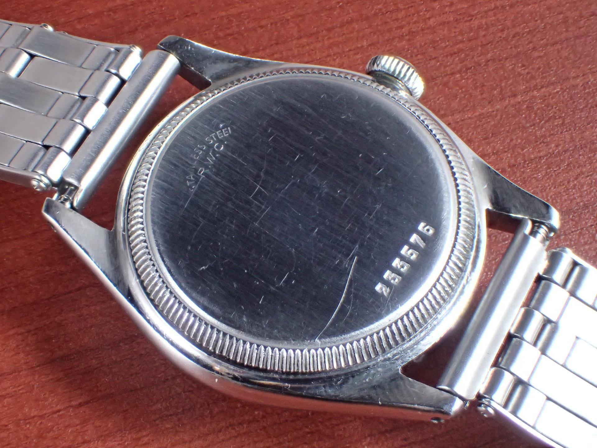 ロレックス オイスター スピードキング Ref.4220 ブラックダイアル 1940年代の写真4枚目
