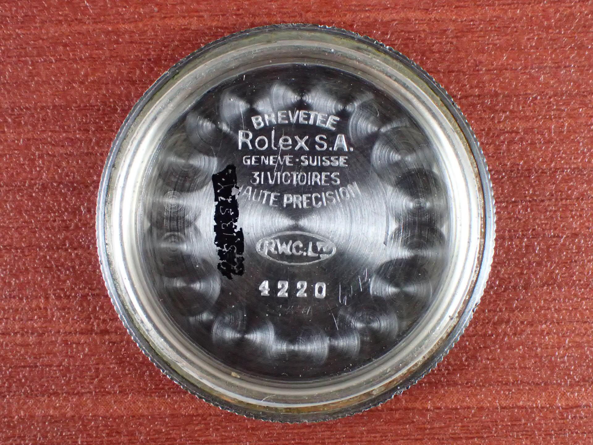 ロレックス オイスター スピードキング Ref.4220 ブラックダイアル 1940年代の写真6枚目
