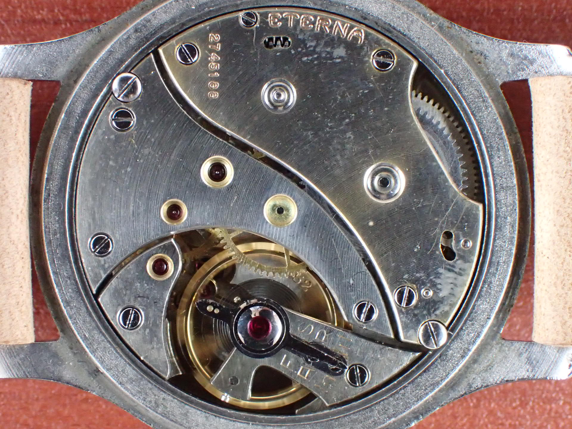 エテルナ ラージカラトラバケース Cal.852 ブラックミラーダイアル 1940年代の写真5枚目