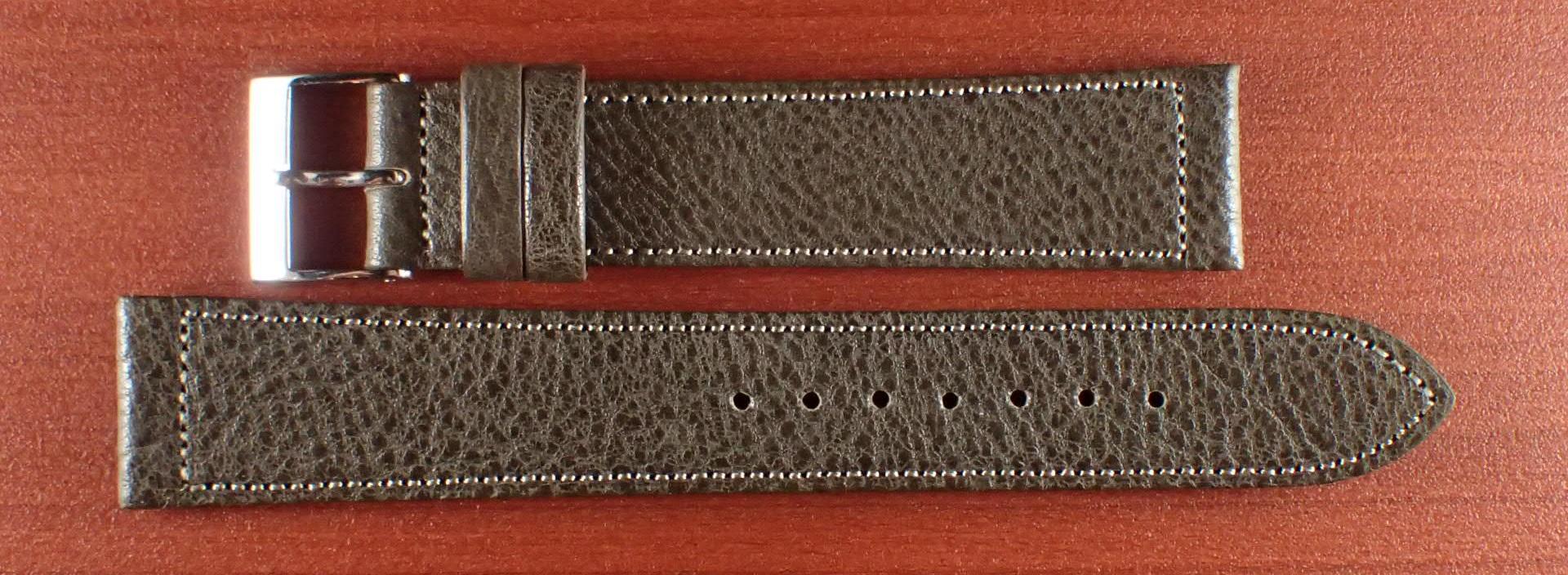 シュリンクレザーベルト グレー 16、17、18、19、20mm