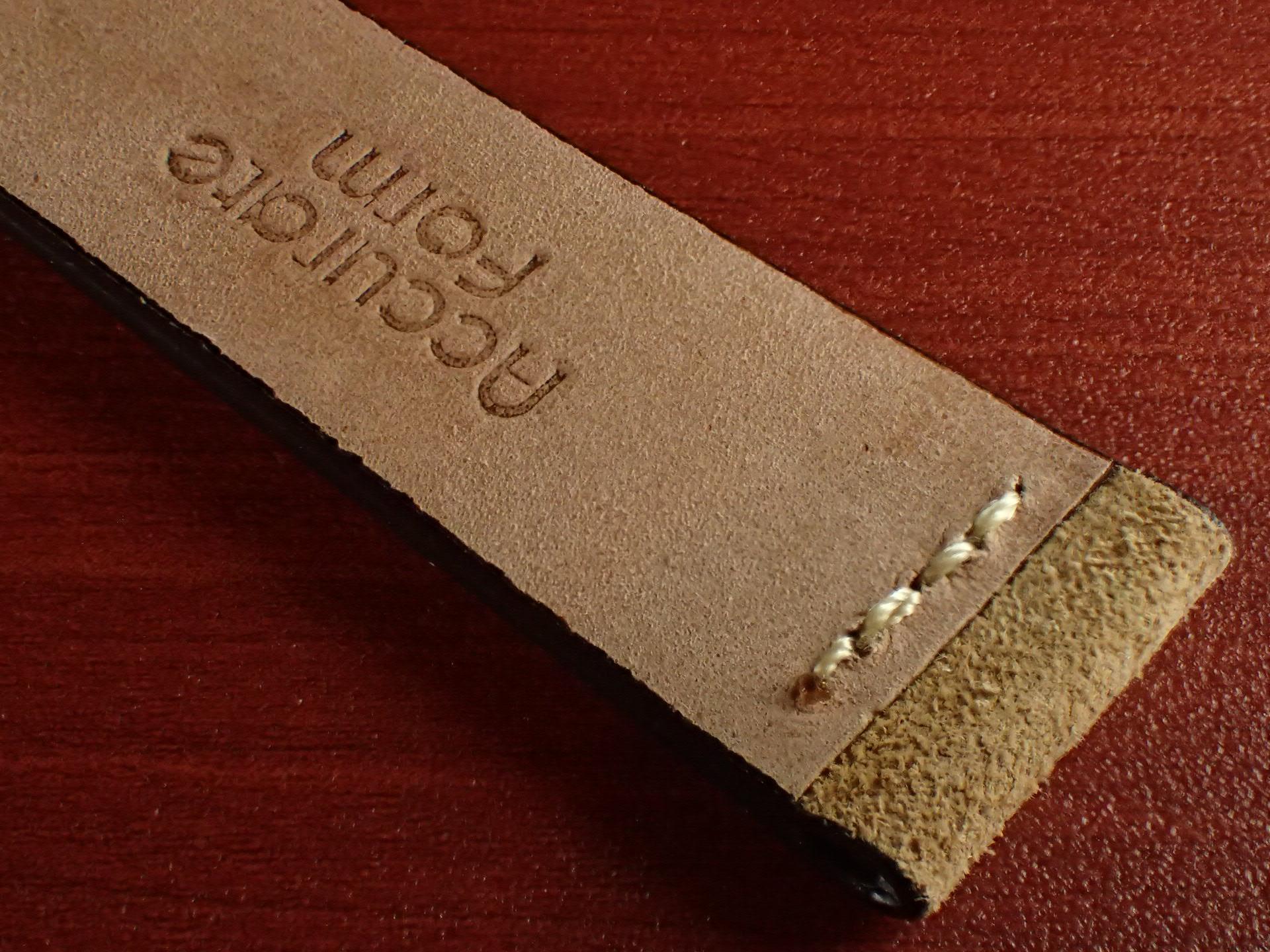 スウェード革ベルト チャールズ・F・ステッド クードゥー 一文字ステッチ ベージュ 18、19、20mmの写真6枚目