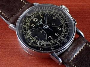 ホイヤー クロノグラフ ビッグアイ ランデロン13 ブラックDL 1940年代