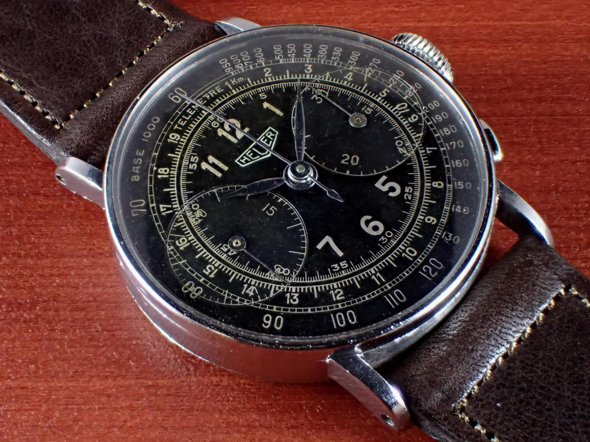 ホイヤー クロノグラフ ビッグアイ ランデロン13 ブラックDL 1940年代のメイン写真