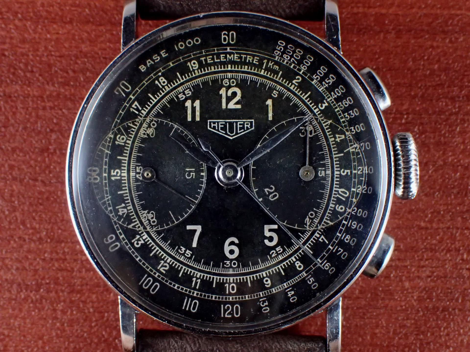 ホイヤー クロノグラフ ビッグアイ ランデロン13 ブラックDL 1940年代の写真2枚目