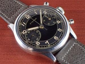 エテルナ クロノグラフ Cal.Valjoux22 ブラック/グレー 1940年代