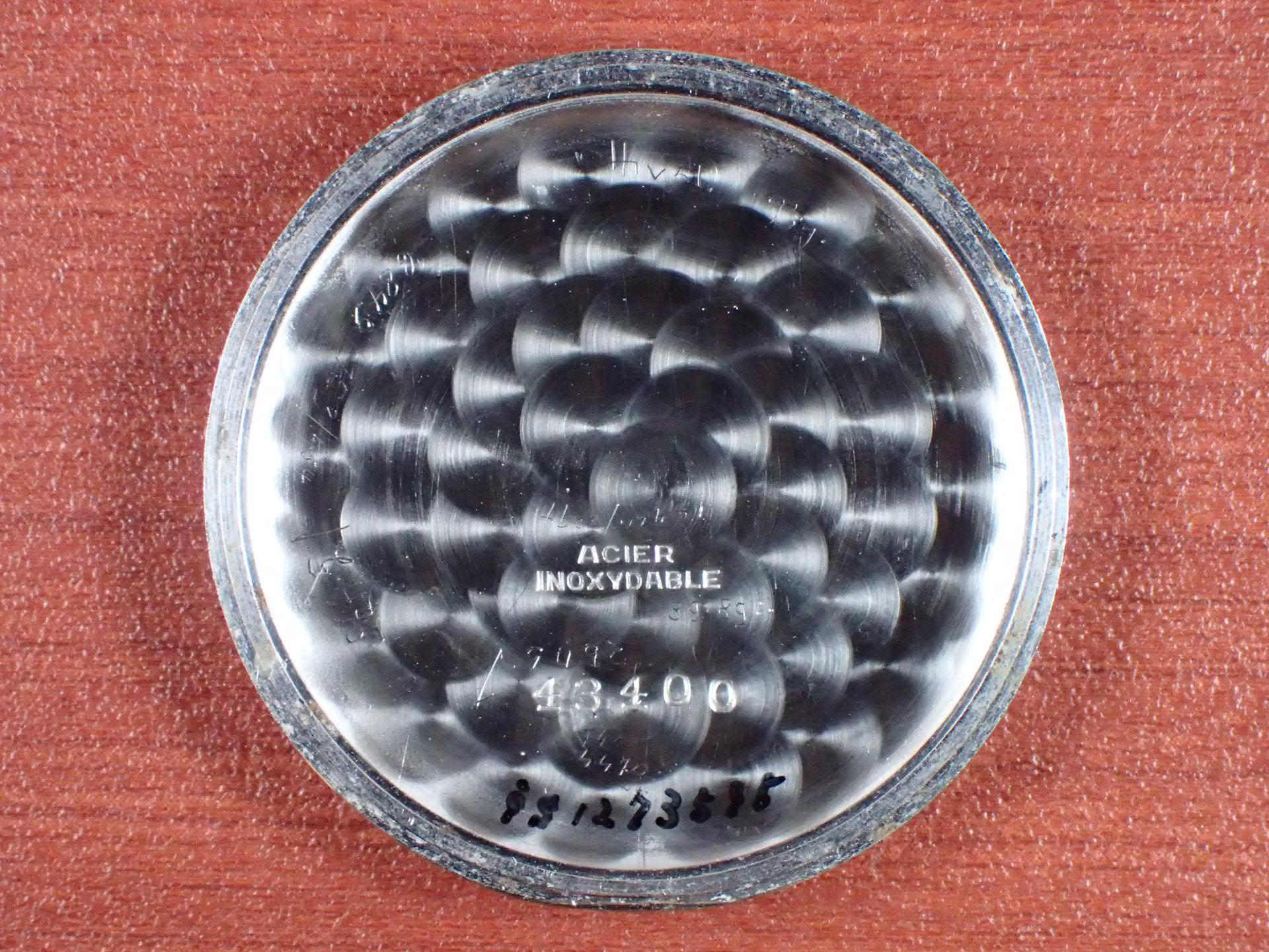 ホイヤー ベビークロノグラフ Cal.Valjoux69 ブラックダイアル 1940年代の写真6枚目