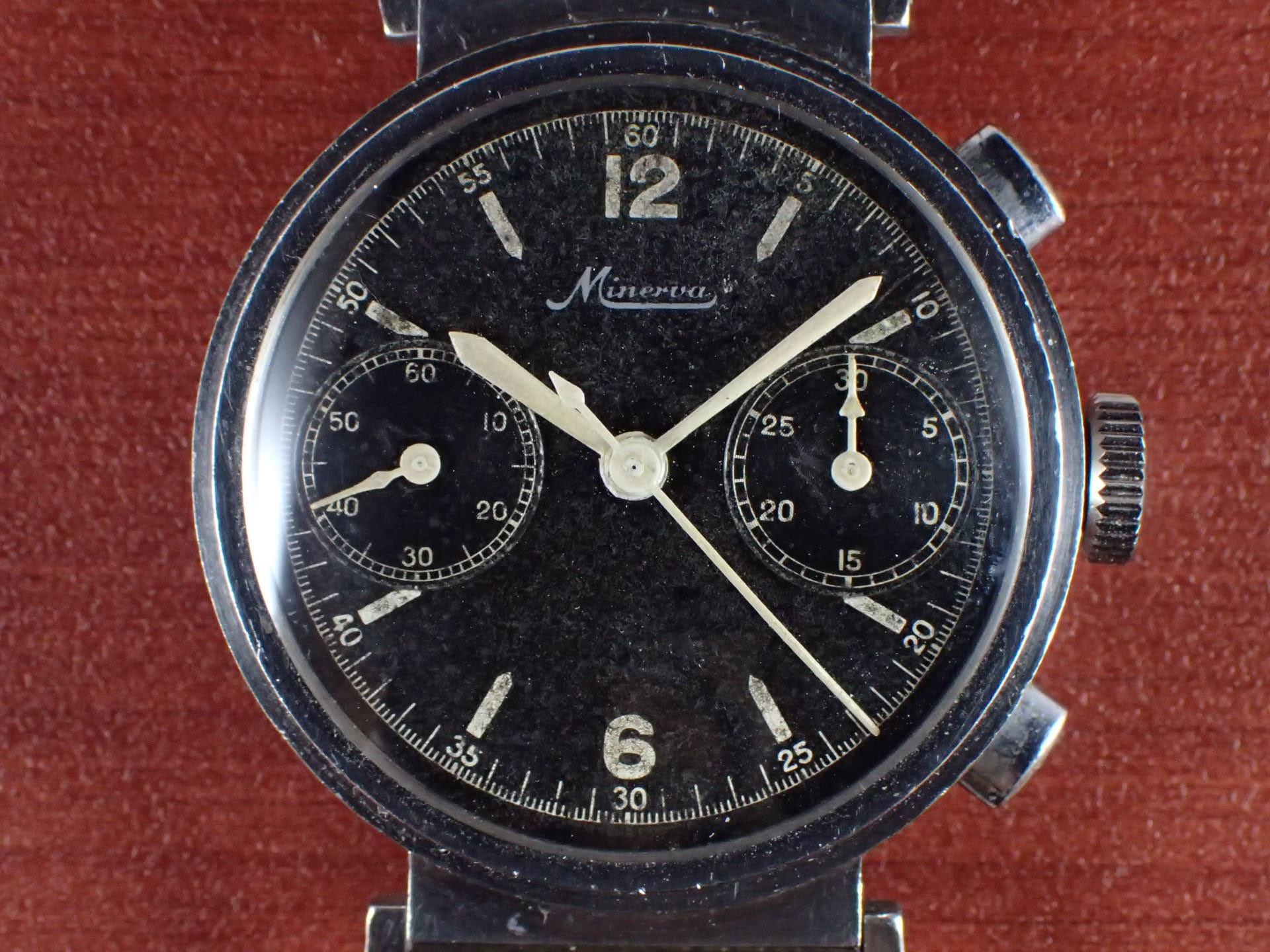 ミネルバ クロノグラフ Cal.13-20CH フレキシブルラグ 1930年代の写真2枚目