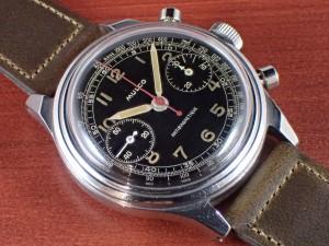 ムルコ Cal.Valjoux22 スピルマンケース ブラックミラーダイアル 1940年代