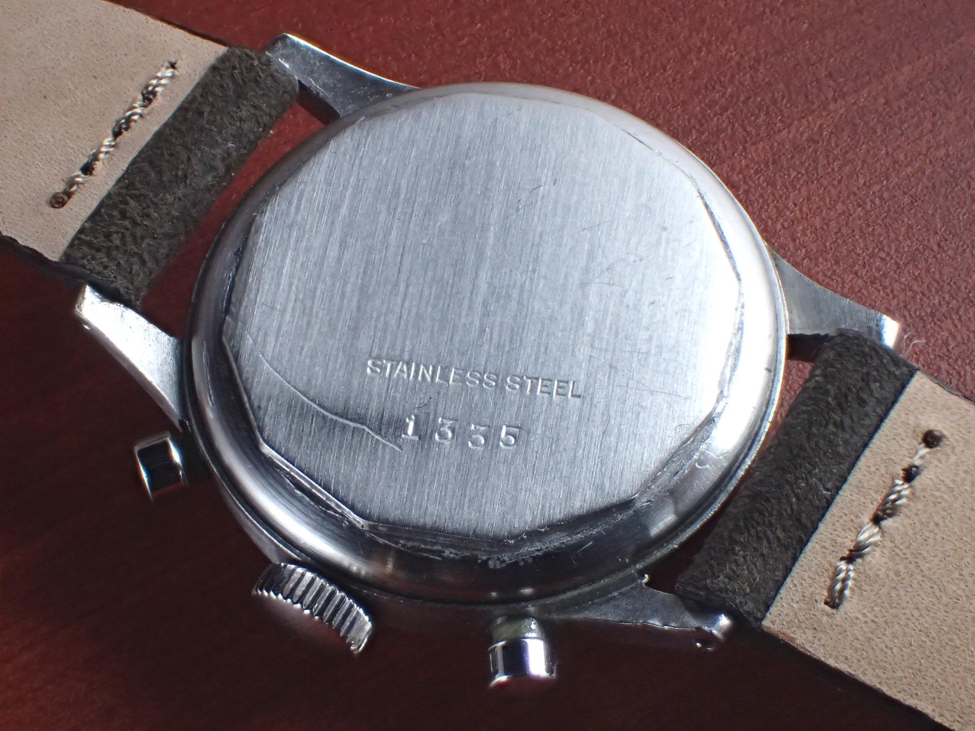 ミネルバ キャリバー13-20CH ブラックミラーダイアル スクリューバック 1940年代 の写真4枚目