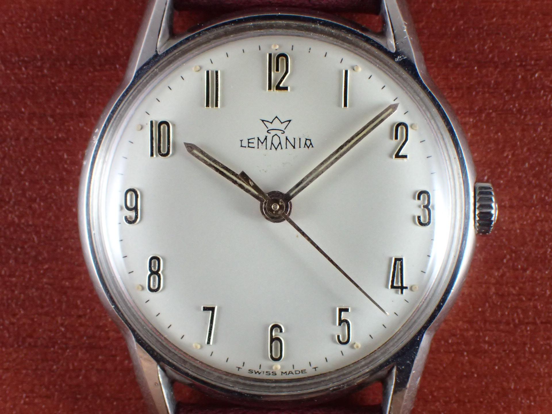 レマニア Cal.3060 アプライドインデックス ホワイトダイアル 1960年代の写真2枚目
