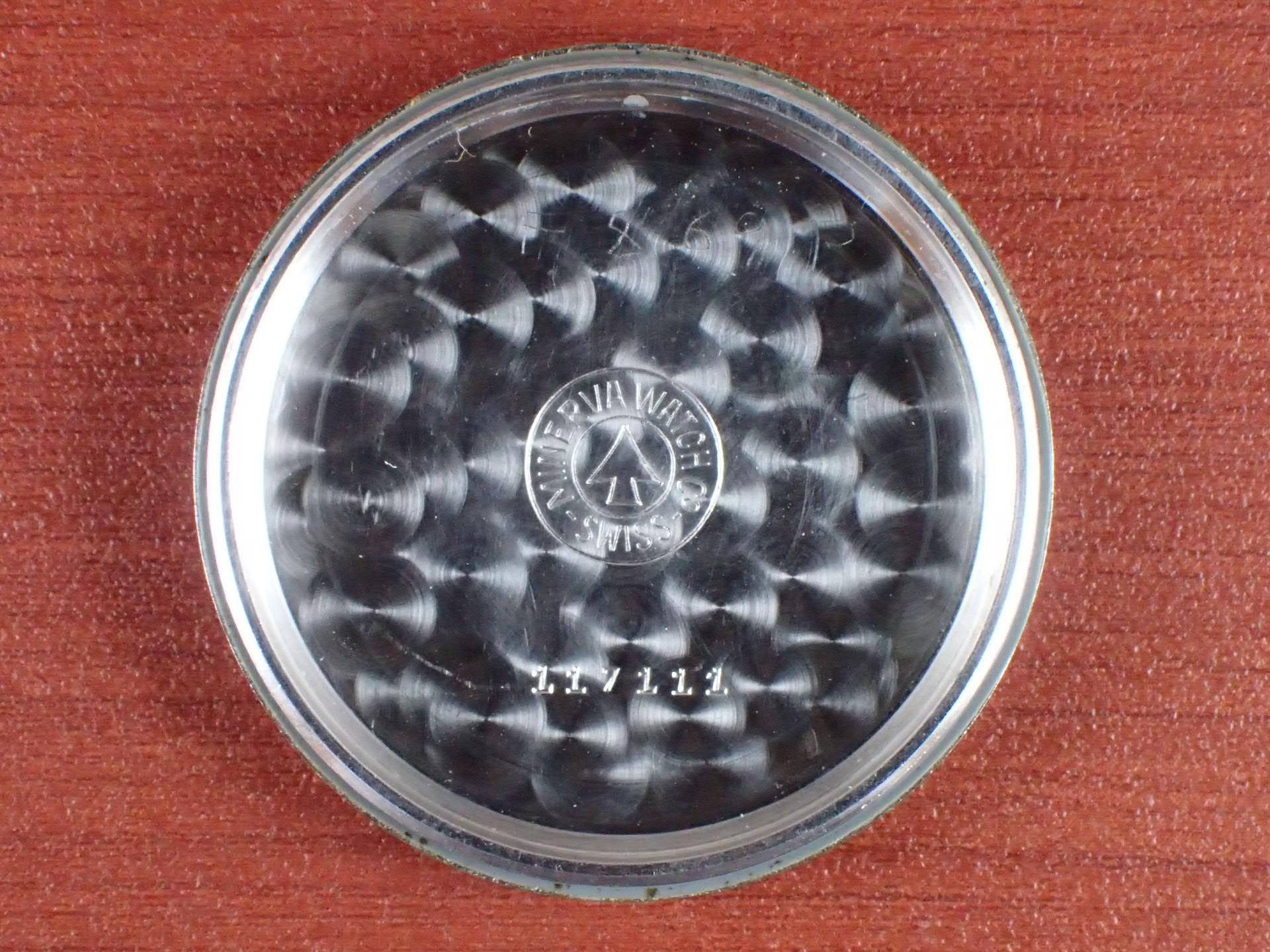 ミネルバ クロノグラフ バルジュー72 ホワイトダイアル BOX付 1950年代の写真6枚目